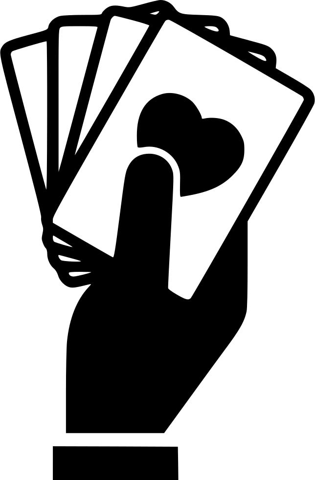 jpg transparent Hand Holding Playing Cards Svg Png Icon Free Download