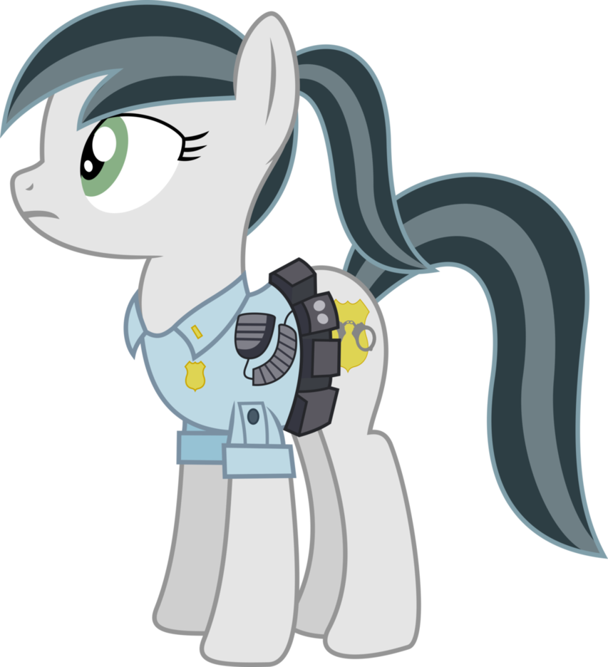 graphic stock Handcuff clipart mlp. Officer silver chaser by