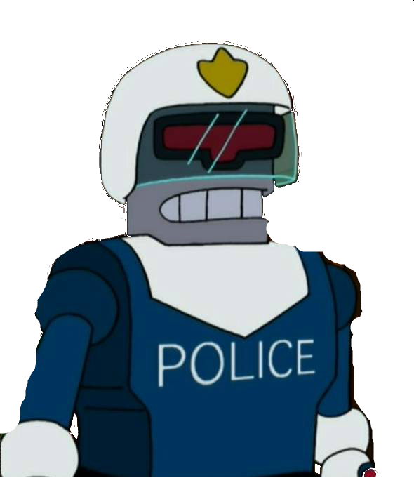 clip black and white library vector robot police #108361940
