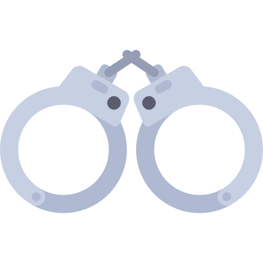 image transparent Handcuffs tools and utensils. Handcuff clipart police tool