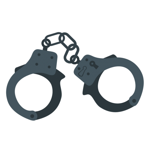 svg black and white download Handcuffs clipart. Png free images toppng.