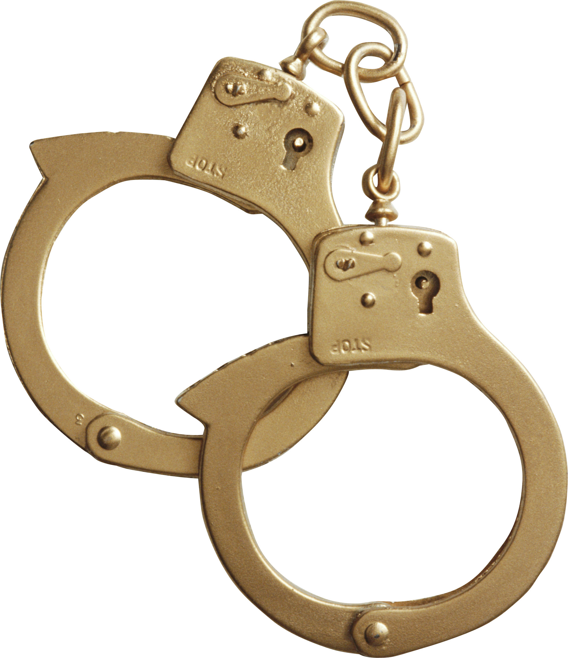 clipart black and white stock Golden cuffs png image. Handcuff clipart custody