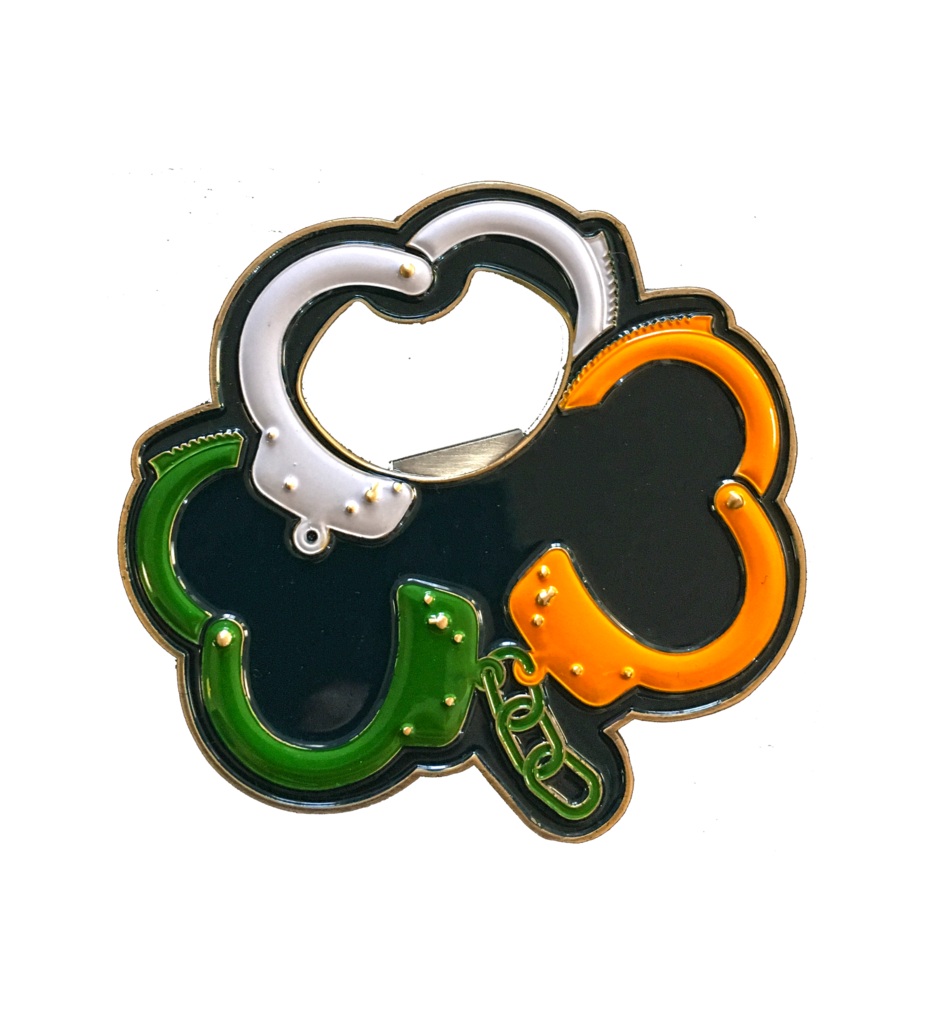 image black and white Irish challenge coin and. Handcuffs clipart item
