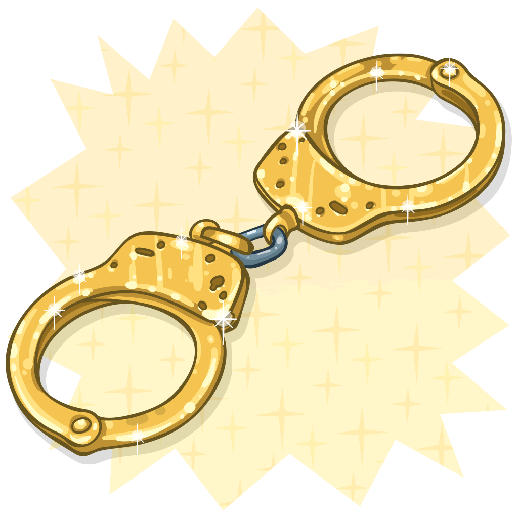 png freeuse library Handcuffs clipart item. Detail golden itembrowser the