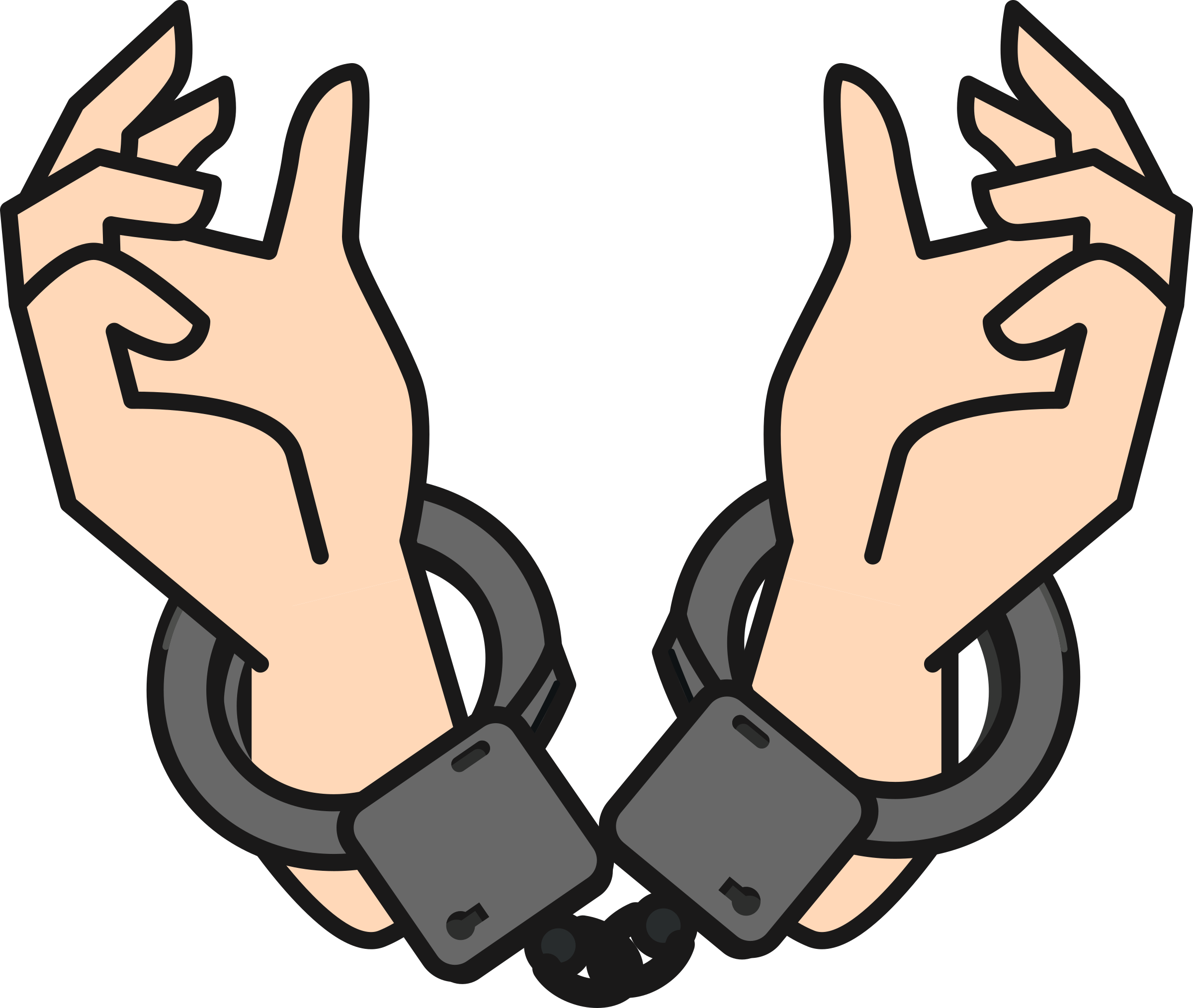 svg stock Handcuffs clipart police equipment. Big image png