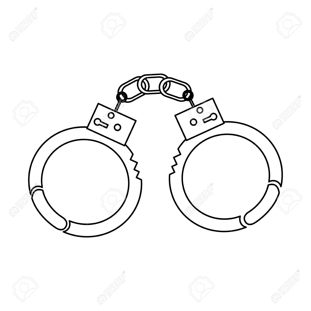 png black and white library Handcuffs clipart tool. Collection of free handcuffed