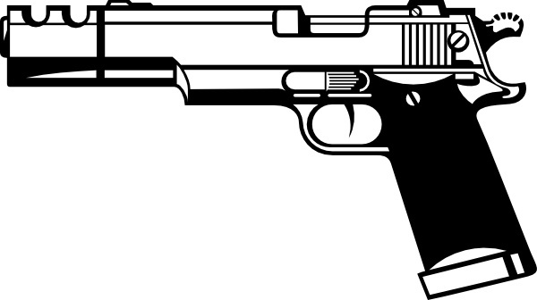 clipart free Handgun vector. Free download for commercial
