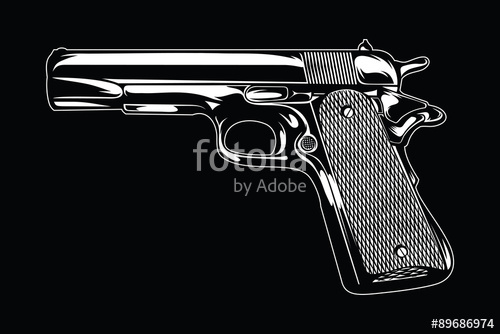 clip art free library Illustration stock image and. Handgun vector