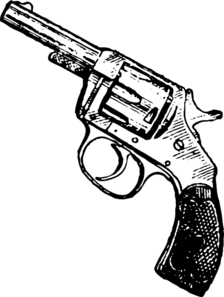 black and white download Collection of free Revolver vector