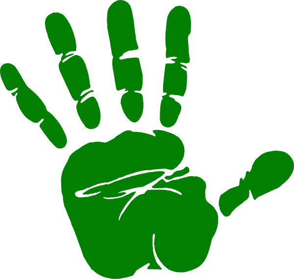 image royalty free download Kids Handprint Clipart