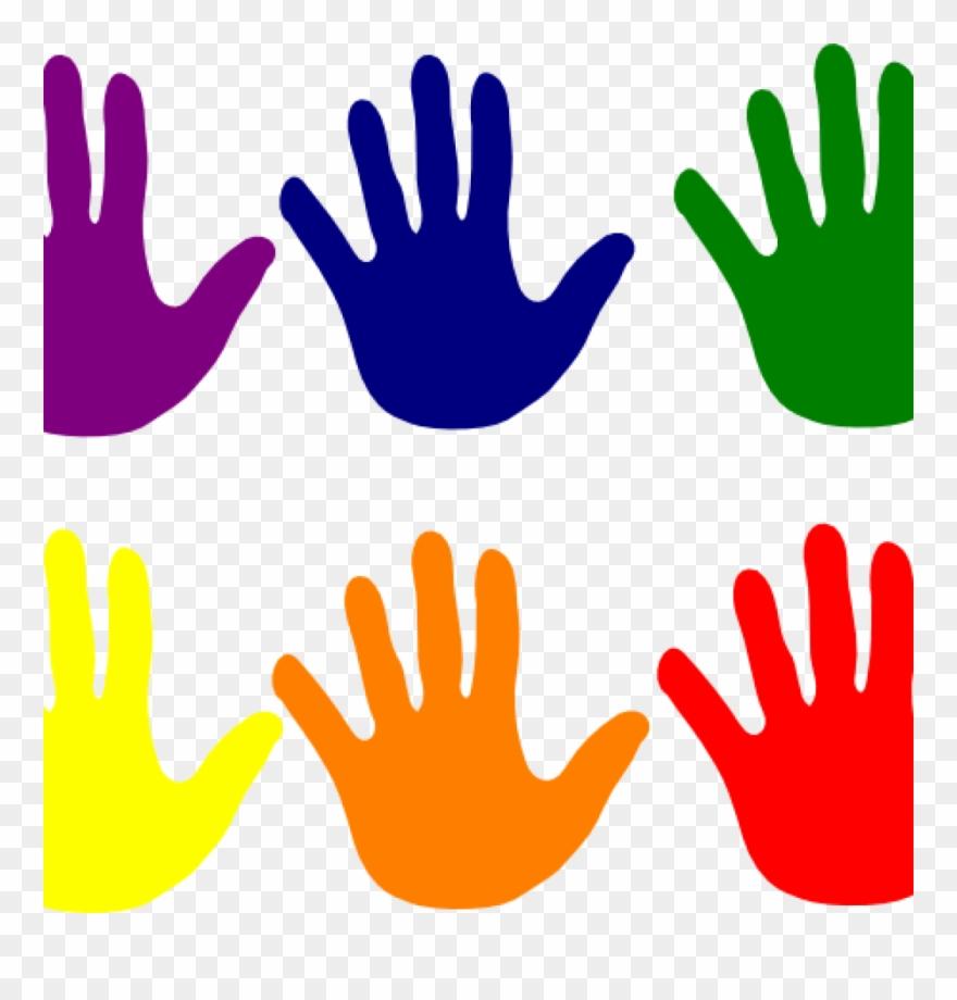 clip art free download Handprint clipart. Hands various colors clip.