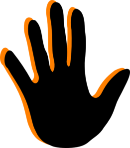 clipart freeuse download Handprint clipart cross. Clip art at clker