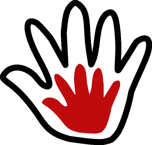 banner library library Child black white amoola. Handprint clipart cross