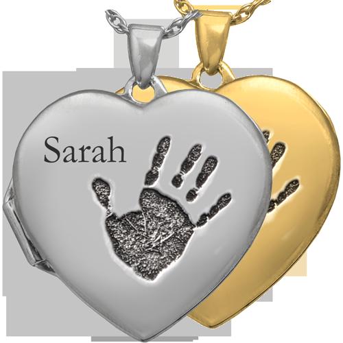 vector free download Double photo locket fingerprint. Handprint clipart heart middle