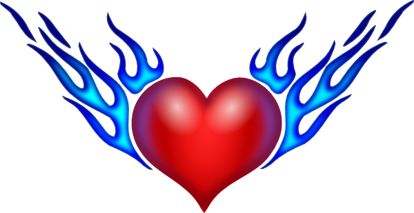 transparent library Handprint clipart heart middle. Hearts burning clip art