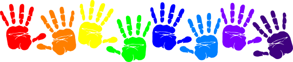 black and white library And the benefits for. Handprint clipart messy play