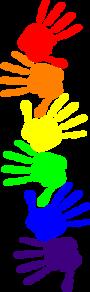 png library download Handprints clip art at. Handprint clipart rainbow