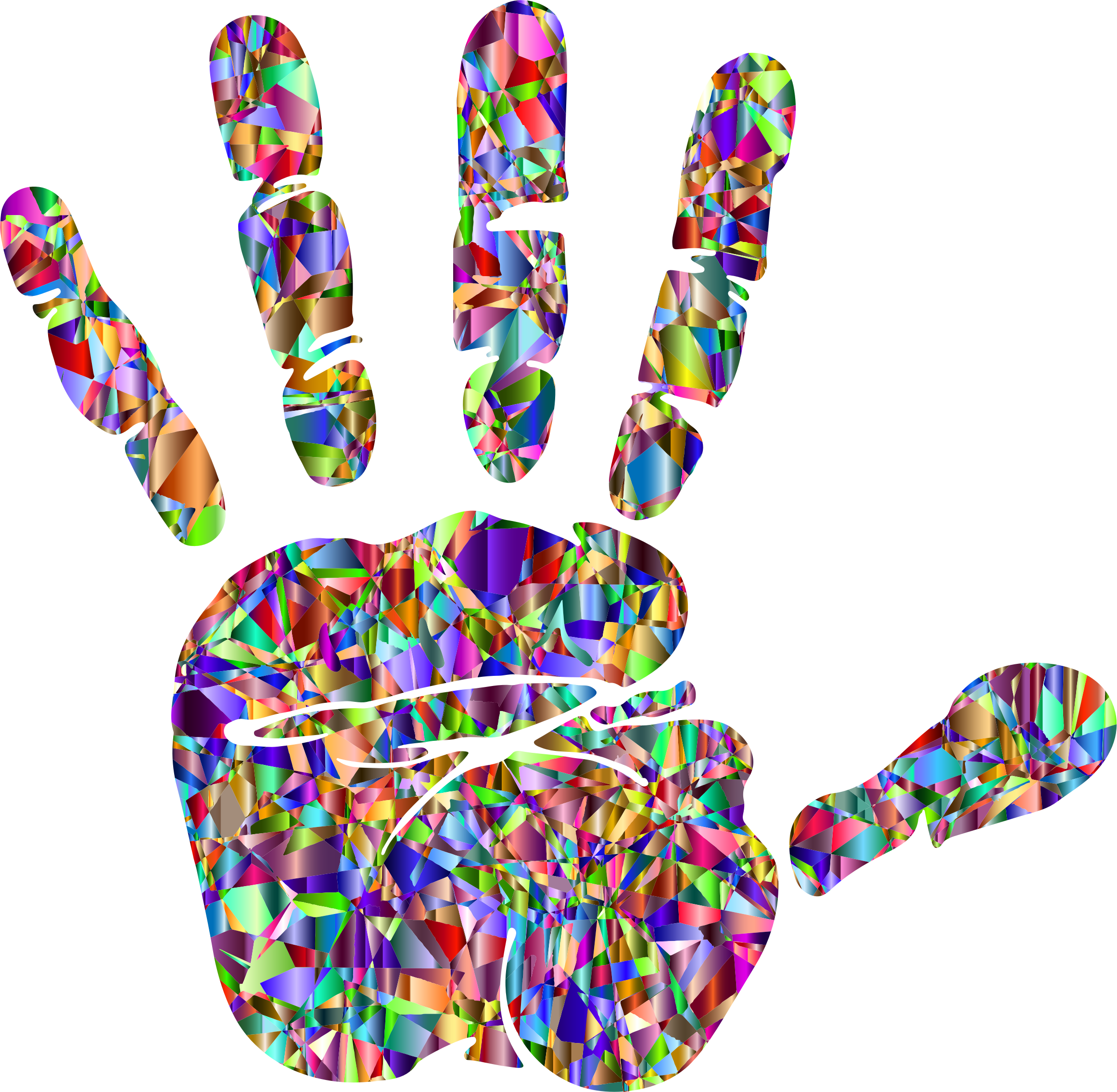 png free library Technicolor silhouette big image. Handprint clipart rainbow