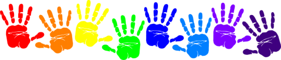 banner royalty free library Handprint clipart toddler. Cilpart lovely idea kids
