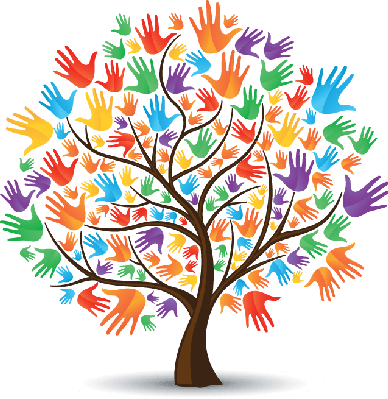 png library download Colored the arts image. Hands clipart tree