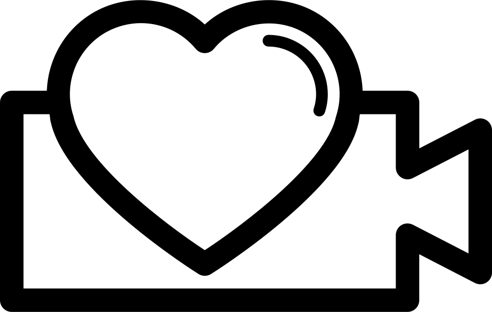 image transparent Video Symbol With Heart Shape Svg Png Icon Free Download
