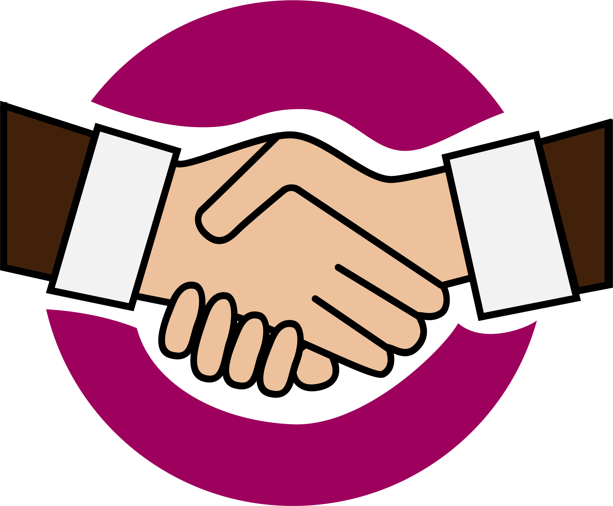 banner free Handshake clipart. A icon big image.