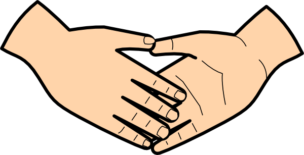 graphic library library Clip art at clker. Handshake clipart.