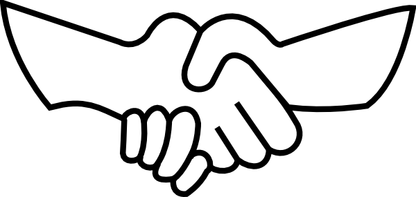 vector royalty free Handshake clipart. Outline clip art panda.