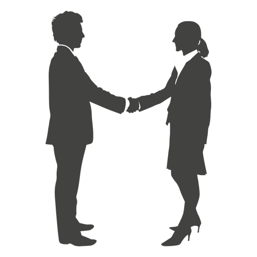 black and white library Businessman shaking hands to. Vector business shake hand