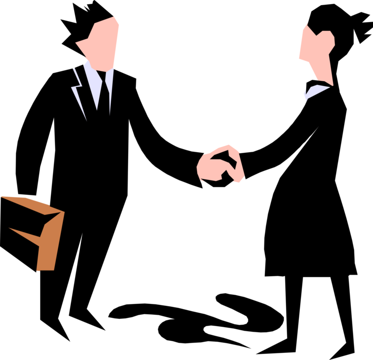 banner black and white library Vector business shake hand. Entrepreneur executive shakes hands