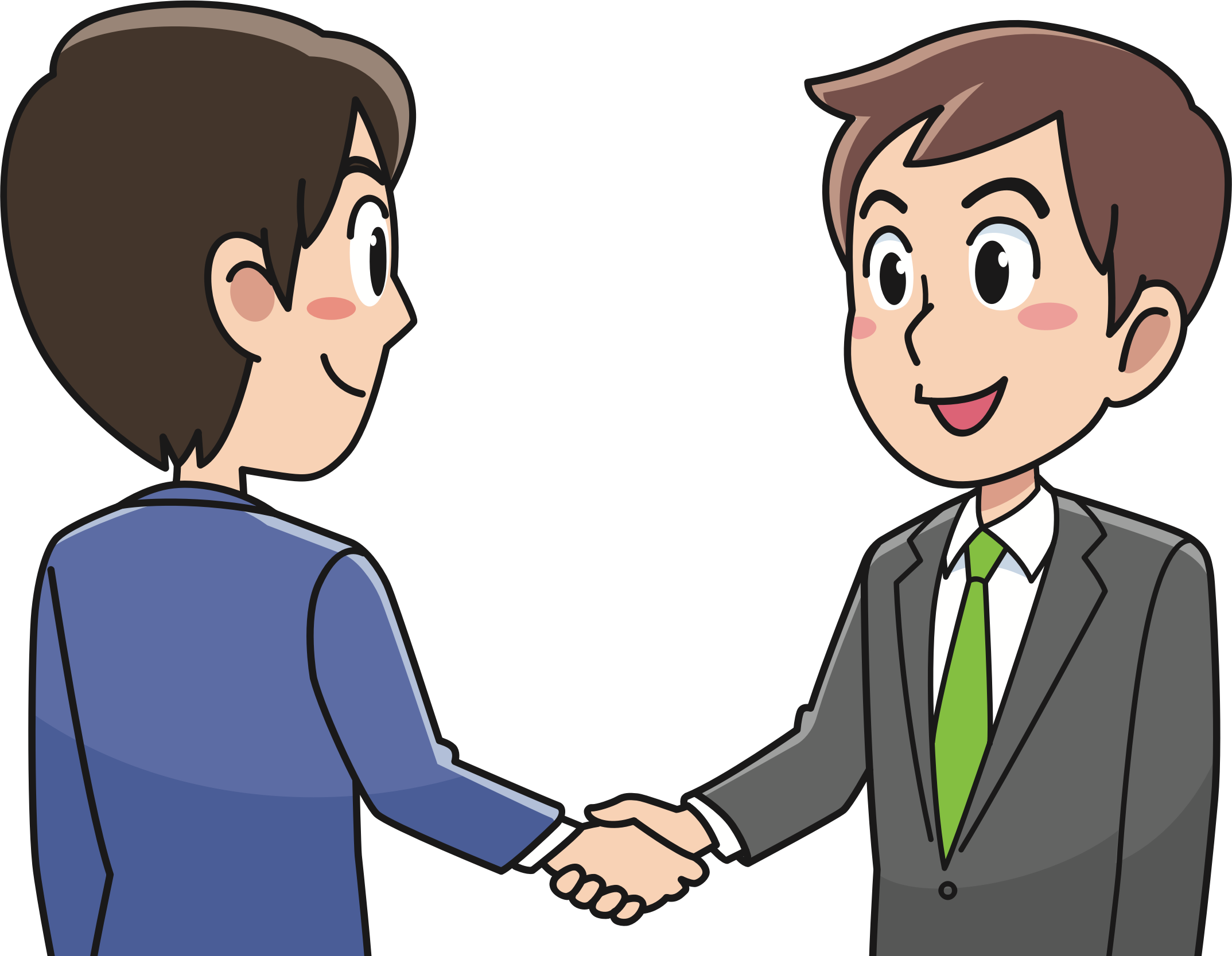 vector freeuse stock Business big image png. Handshake clipart greeting