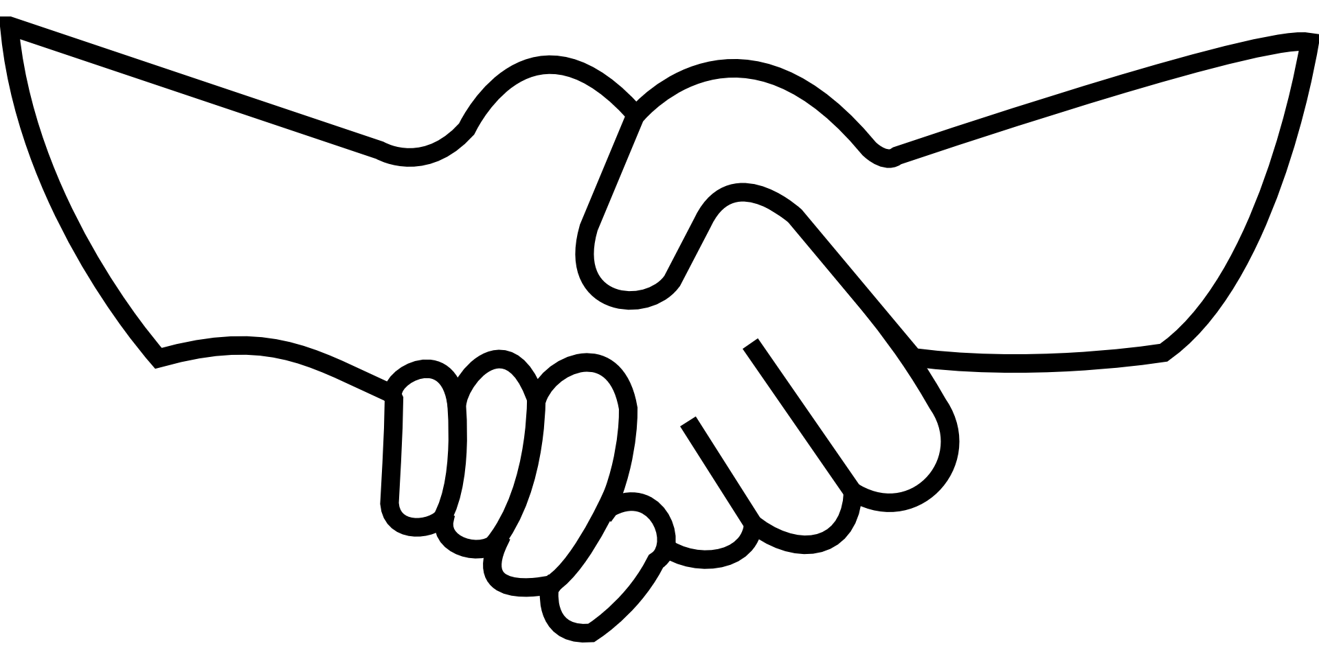 banner black and white library Handshake clipart jpeg. Holding hands praying clip