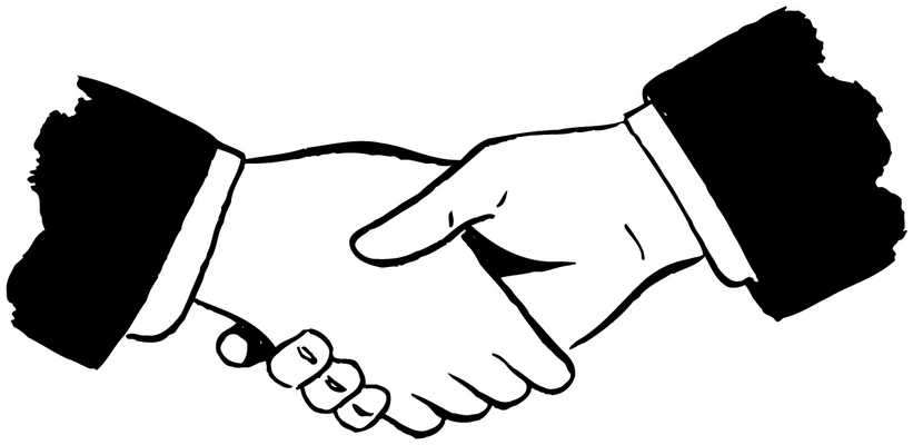 banner black and white Handshake clipart jpeg. Free images download clip.