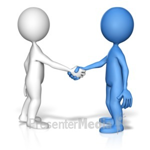 free stock Handshake clipart presentation introduction. To a friend home