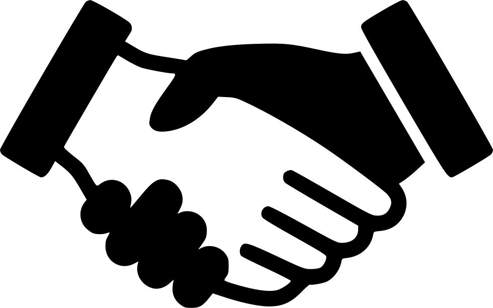 jpg black and white download Handshake Svg Png Icon Free Download