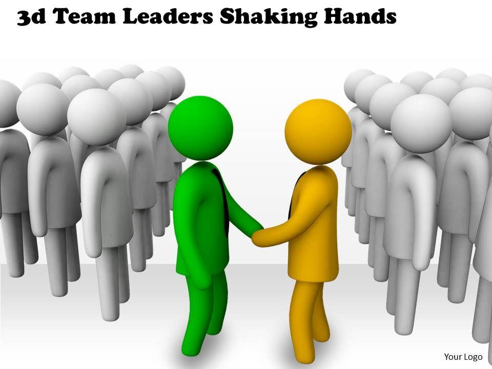 vector free download  d leaders shaking. Handshake clipart team