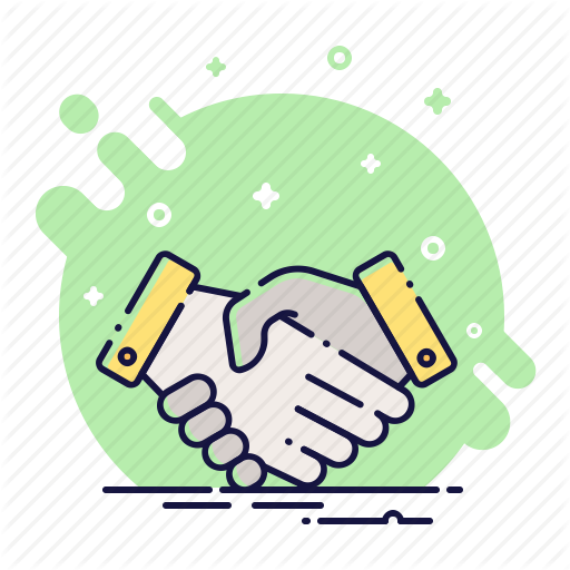 freeuse stock Contract cooperation deal finance. Handshake clipart team