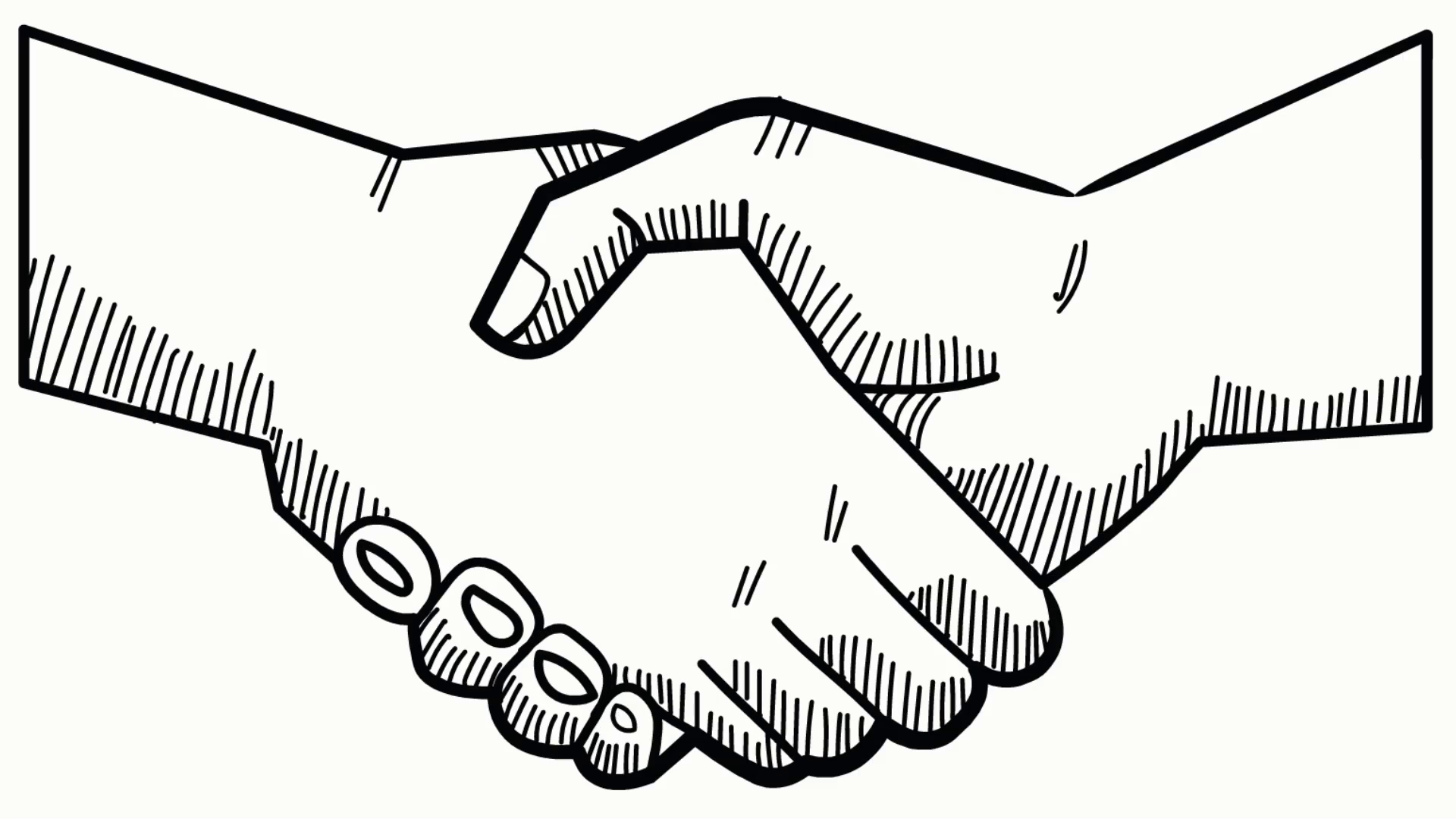 jpg library stock Hand shake drawn icon. Handshake clipart transparent background
