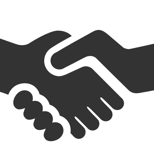 svg black and white stock Handshake clipart transparent background. Cooperation png pictures free
