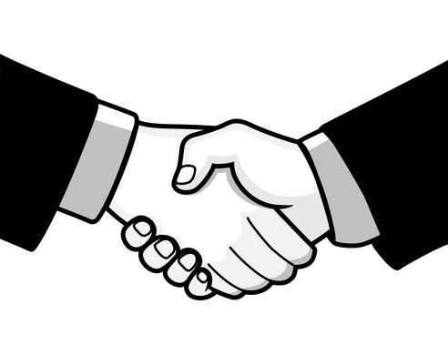 royalty free library Handshake clipart welcome. The top best blogs