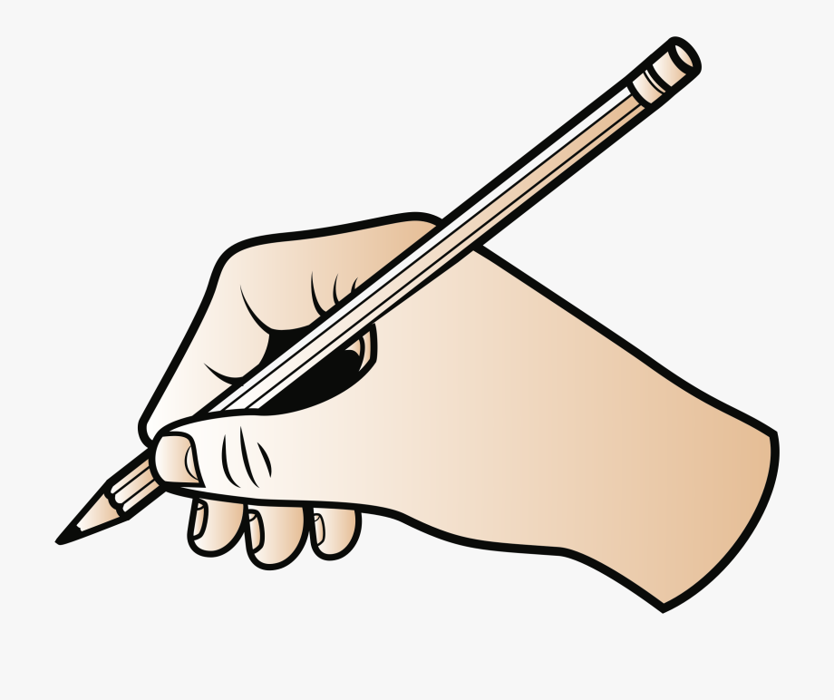 jpg freeuse library Handwriting clipart. Pencil and book transparent.