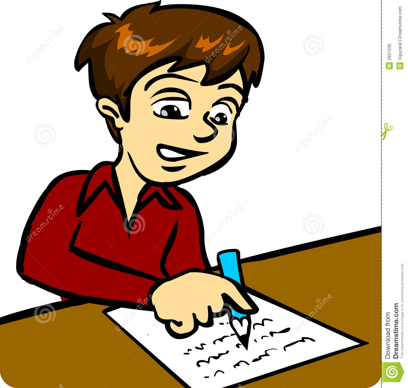 jpg free Free and girl writing. Writer clipart boy