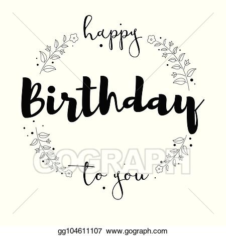 graphic free library Vector stock birthday to. Handwriting clipart happy