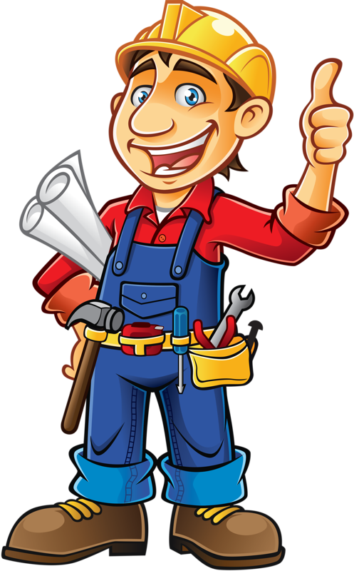 vector stock Handyman clipart.  png les m.