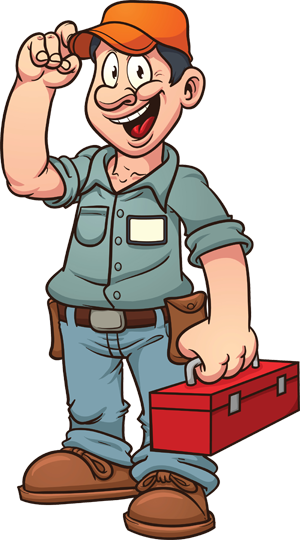 picture royalty free library Electrical clipart maintenance man