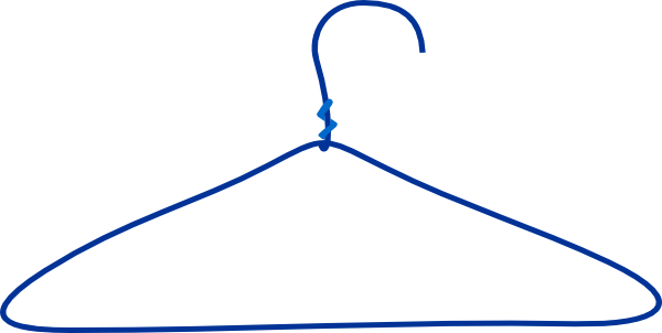 clipart freeuse stock Hanger clipart. Large blue clothes clip.