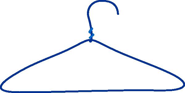 clipart freeuse stock Hanger clipart. Large blue clothes clip