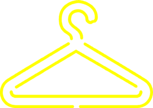 banner freeuse Yellow Clothing Hanger Clip Art at Clker