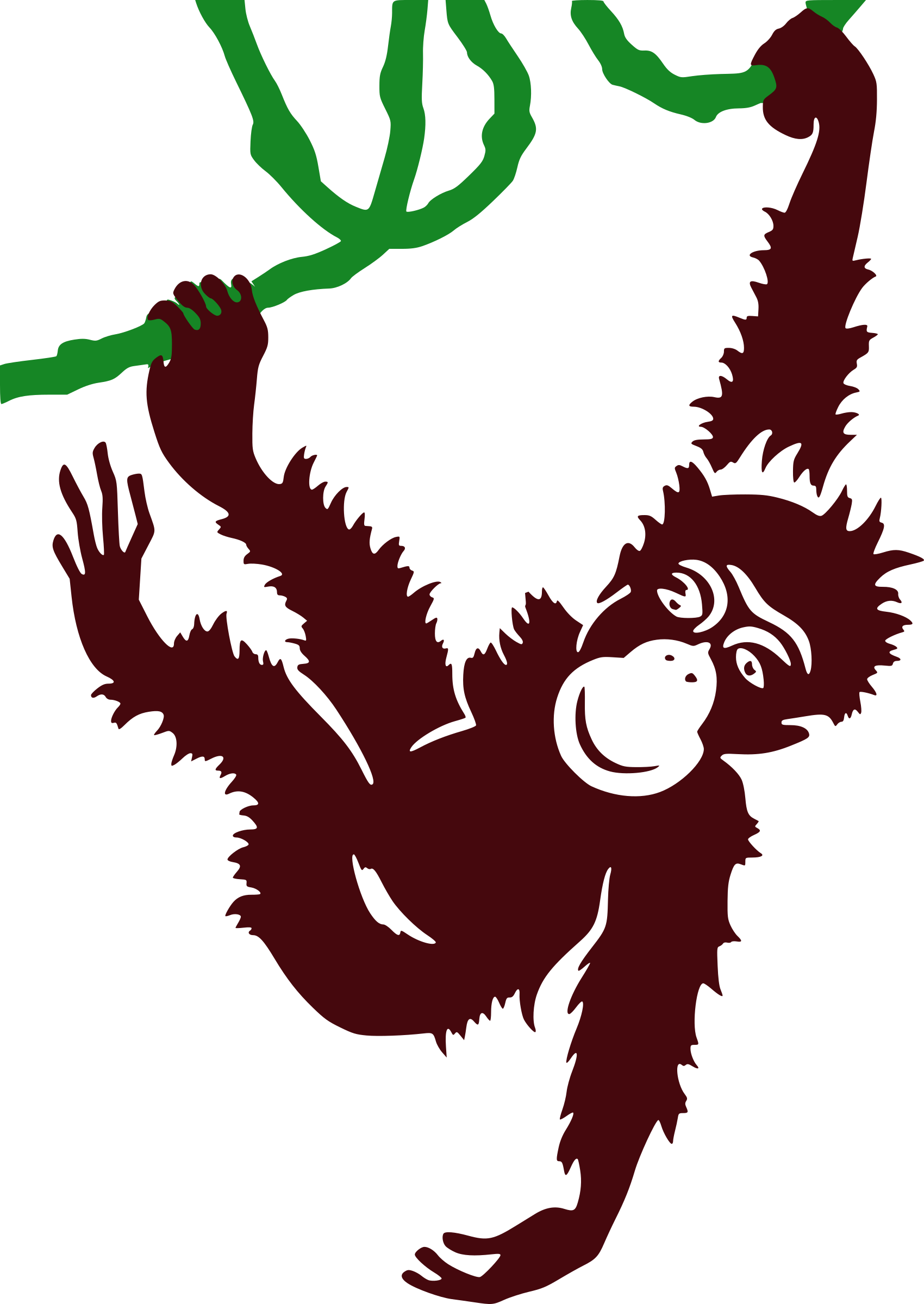 vector transparent stock Ape clipart jungle gorilla. Hanging monkey icons png