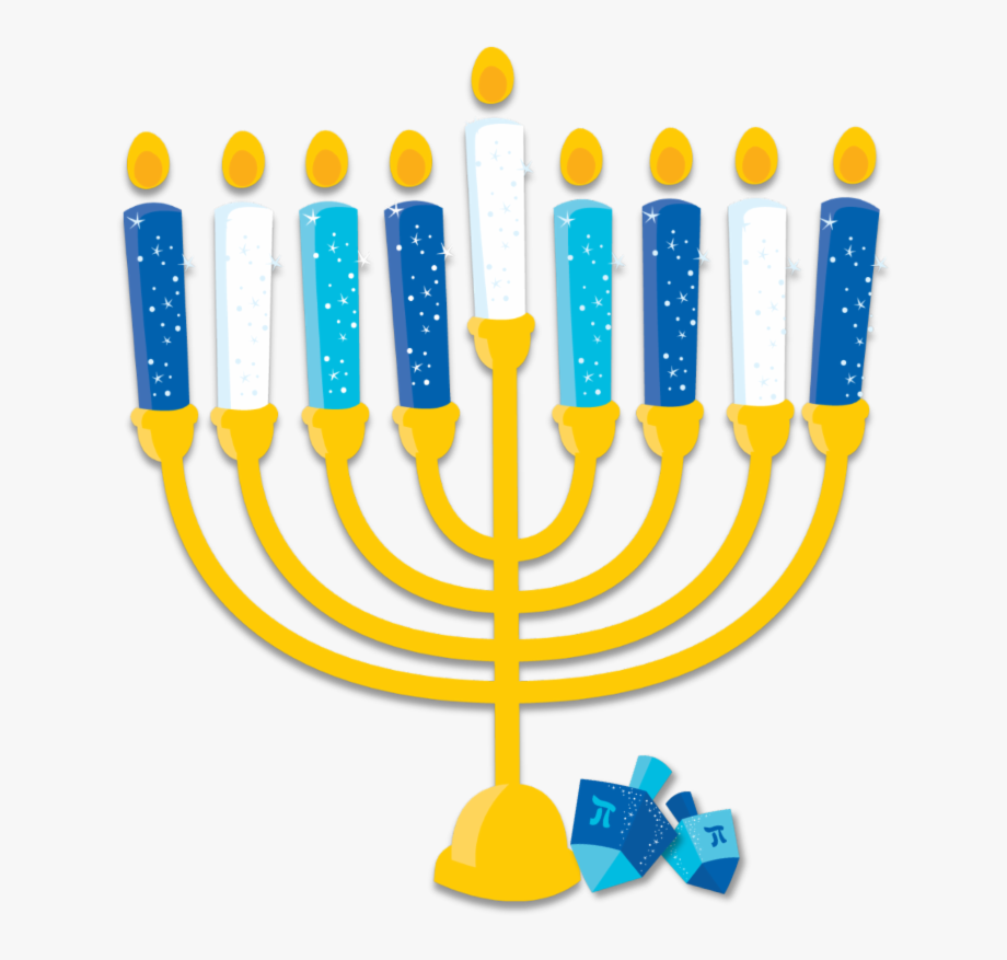 clip art black and white library Hanukkah celebration clip art. Menorah clipart